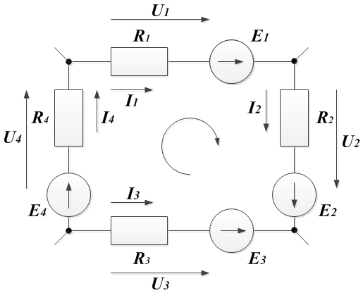 Пример 2. Рисунок ко второму закону Кирхгофа