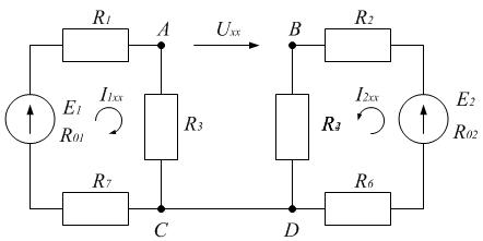 Схема к примеру 5. Режим холостого хода