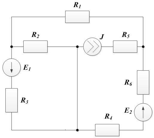 Задача 4. Рисунок 1. Законы Кирхгофа