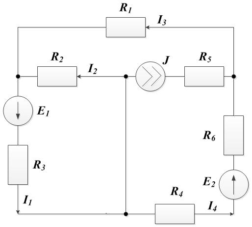 Задача 4. Рисунок 2. Законы Кирхгофа
