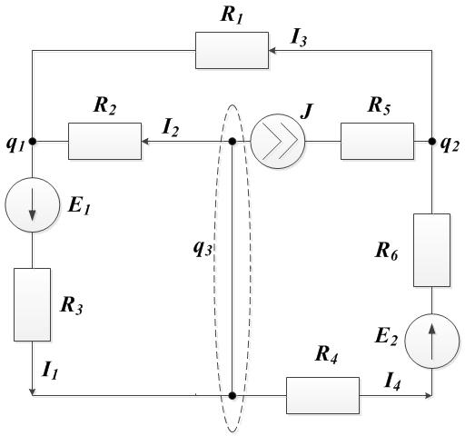 Задача 4. Рисунок 3. Законы Кирхгофа