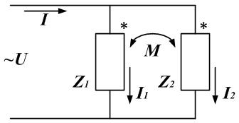 Рисунок: параллельное соединение катушек