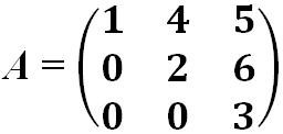 Матрица верхняя треугольная