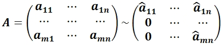 Рисунок №14 Определение ранга матрицы