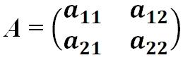 Квадратная матрица 2х2