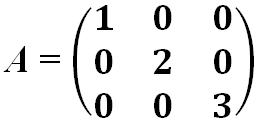 Матрица квадратная диагональная